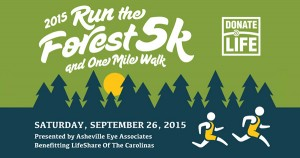 2015 run the forest 5k and one mile walk