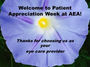 Welcome to patient appreciation week at aea!