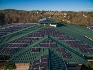 Asheville Eye Solar Aerial Photography