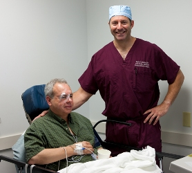 Satisfied patient after cataract surgery